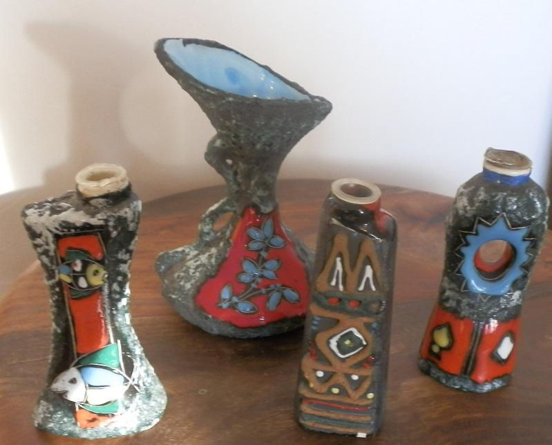 Artvasen: italian ceramica pottery vases nottingham